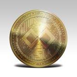 Gouden die tenx betaalt muntstuk bij het witte 3d teruggeven wordt geïsoleerd als achtergrond Royalty-vrije Stock Foto's