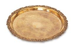 Gouden dienblad Royalty-vrije Stock Foto's