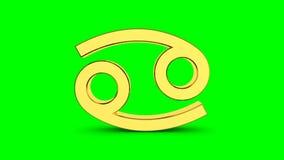 Gouden dierenriemteken van kanker Video achtergronddierenriemkanker voor videointro of horoscoopvideo stock illustratie