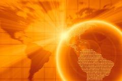 Gouden Digitale Wereld Stock Afbeeldingen