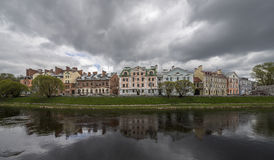 Gouden Dijk, een woonwijk in de historische plaats van Stock Fotografie