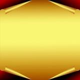 Gouden Document met gekrulde randen Stock Foto's