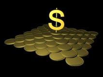 Gouden dollar royalty-vrije illustratie