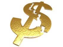 Gouden dollarraadsel Royalty-vrije Stock Afbeelding
