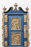 Gouden doo. Binnenland van barokke kerk. Stock Foto's