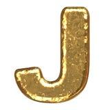 Gouden doopvont. Brief J. Royalty-vrije Stock Foto's