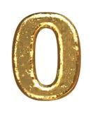 Gouden doopvont. Nummer nul Royalty-vrije Stock Afbeelding