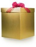 Gouden doos Royalty-vrije Stock Fotografie