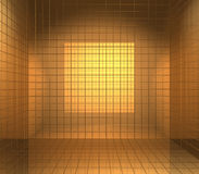 Gouden doos die met de cel in reliëf wordt gemaakt Stock Foto