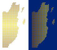 Gouden Dot Belize Map royalty-vrije illustratie