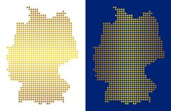 Gouden Dot Germany Map Stock Illustratie
