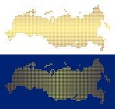 Gouden Dot Russia Map vector illustratie