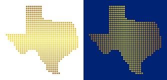 Gouden Dot Texas Map vector illustratie