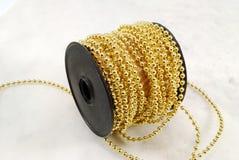 Gouden draad Royalty-vrije Stock Foto's