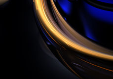 Gouden draad in duisternis 01 Royalty-vrije Stock Afbeelding
