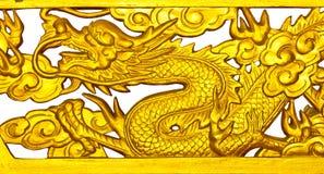 Gouden Draak. Stock Foto's
