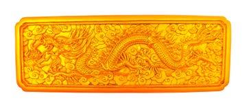Gouden Draak Royalty-vrije Stock Afbeeldingen