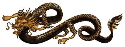 Gouden Draak royalty-vrije illustratie