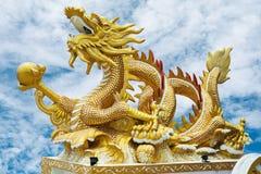 Gouden Draak stock afbeeldingen