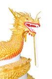 Gouden draakstandbeeld Stock Fotografie
