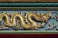 Gouden draken Stock Afbeelding