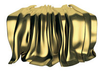 Gouden drapeer Royalty-vrije Stock Foto's