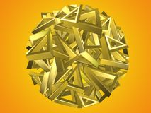 Gouden driehoeks cirkelontwerp Stock Fotografie