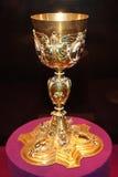 Gouden drinkbeker Royalty-vrije Stock Foto's