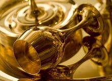 Gouden drinkbeker Stock Foto's