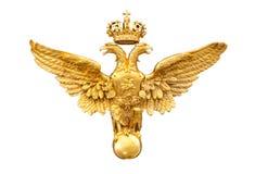Gouden dubbele adelaar Royalty-vrije Stock Fotografie