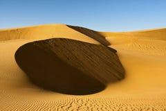 Gouden Duin, de woestijn van Libië Royalty-vrije Stock Afbeeldingen