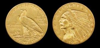Gouden Eagle Coin Stock Fotografie