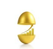 Gouden een paasei Royalty-vrije Stock Foto