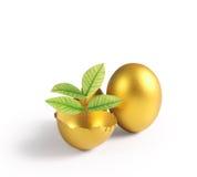 Gouden een paasei Royalty-vrije Stock Fotografie