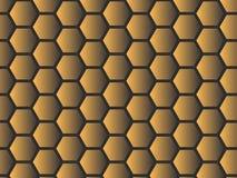 Gouden Effect Honingraat royalty-vrije illustratie