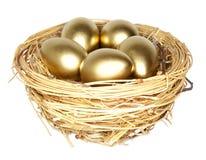 Gouden ei royalty-vrije stock fotografie