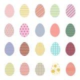 Gouden ei over groene gradiëntachtergrond De vectorinzameling van Pasen Royalty-vrije Stock Afbeeldingen