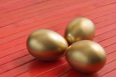 Gouden eieren Royalty-vrije Stock Afbeelding