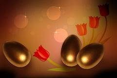 Gouden eieren Stock Foto