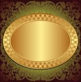 Gouden eind bruine achtergrond Stock Afbeelding