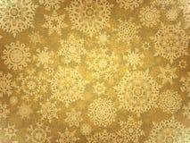 Gouden elegant Kerstmismalplaatje. EPS 8 Stock Fotografie