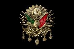 Gouden Embleem van Ottomaneimperium stock foto