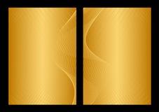 Gouden en gele achtergrond, voorzijde en rug royalty-vrije illustratie