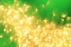 Gouden en Groen - Abstracte Kunst van Kleur en Achtergrond Royalty-vrije Stock Foto's