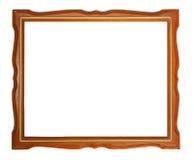 Gouden en houten frame Stock Foto's