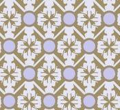 Gouden en lilac abstract bloemen geometrisch patroon, achtergrond, naadloze vector Royalty-vrije Stock Foto
