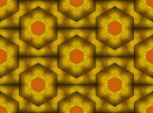 Gouden en oranje ananas gevormde textielontwerpillustratie royalty-vrije illustratie