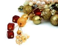 Gouden en Robijnrode Juwelen royalty-vrije stock foto's