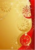 Gouden en rode Kerstmis Royalty-vrije Stock Afbeelding