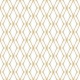 Gouden en witte retro luxeachtergrond Herhaal ontwerpelement royalty-vrije illustratie